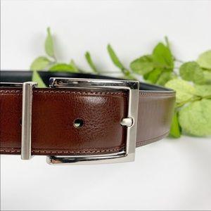 Perry Ellis Medium Brown Leather Belt Size 42 Men